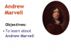 To His Coy Mistress Andrew Marvell (slide 3/36)